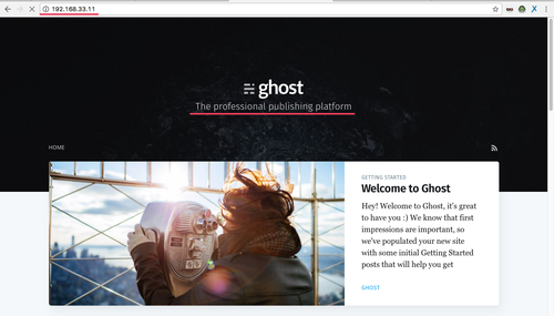 Ghosts Blog is working
