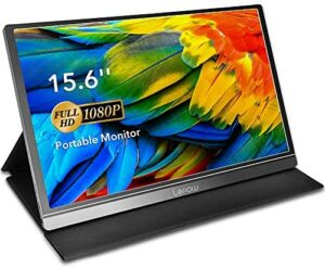 Portable Monitor – Lepow 15.6 Inch Computer Display 1920×1080 Full HD IPS Screen USB C Gaming Monitor with Type-C Mini HDMI for Laptop PC MAC Phone Xbox PS4, Include Smart Cover & Screen Protector