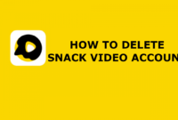 How To Delete Snack Video Account | Working Method