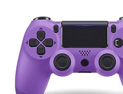 Oriflame – Game Controller for PS4 (Electric Purple) , Dual Vibration Compatible with Windows PC & Android OS , Wireless Bluetooth Controller