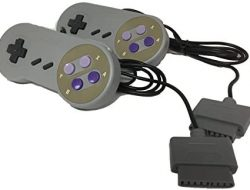 W4W Remote Control Compatible with Super Nintendo SNES – 7 Pin Connector – Pack of Two Controllers (2 Pack)