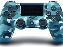 DualShock 4 Wireless Controller for PlayStation 4 – Blue Camouflage (Renewed)